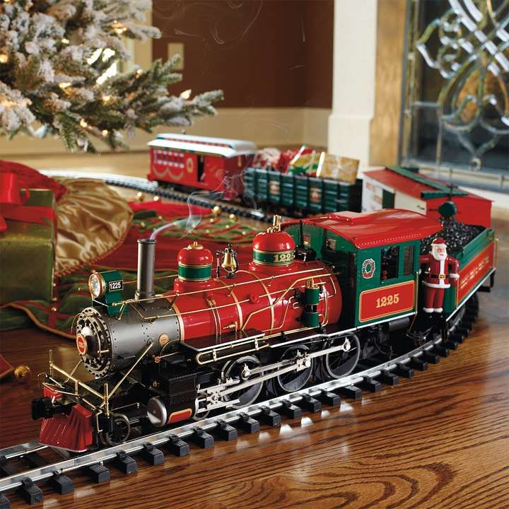great touch under the tree wonderland flyer train set frontgate i love having a toy train around the christmas tree - Train For Around Christmas Tree