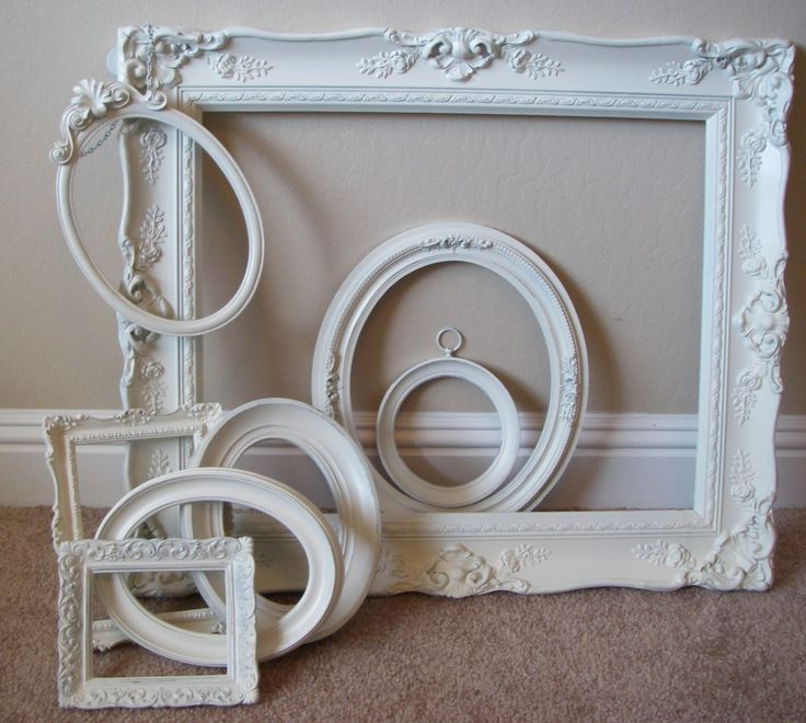 vintage nursery accents | Picture Frames Off White Baroque Vintage Shabby Wedding Nursery Decor
