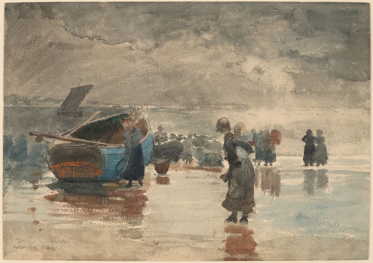 Winslow Homer Watercolors — A Survey of Themes and Styles National Gallery of Art740 × 522Recherche par image On the Sands, 1881, watercolor and gouache with pen and black ink over graphite, Bequest of Julia B. Engel, 1984.58.1