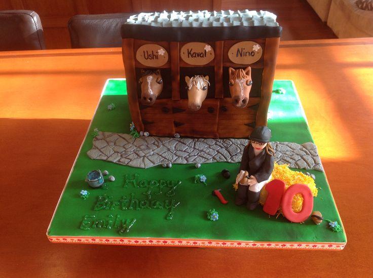 Paardentaart gemaakt door Bingo Taarten en zo.