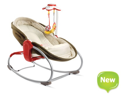 love this:  3-in-1 Rocker Napper  An innovative rocker and napper that facilitates an easy shift from play to sleep