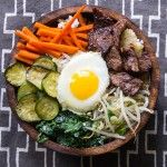 BIBIMBAP: Korean Rice Bowl with Beef and Vegetables