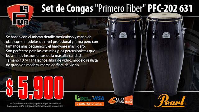 "La Púa San Miguel: Set de Congas ""Primero Fiber"" PEARL PFC-202 631"