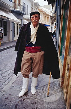 Man in traditional Cretan clothes.
