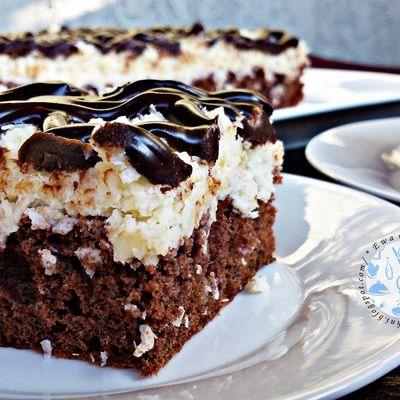 Ciasto czekoladowo - kokosowe - DoradcaSmaku.pl