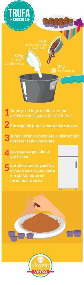 TRUFA DE CHOCOLATE                                                                                                                                                                                 Mais