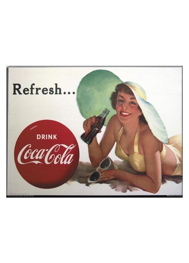 French Vintage Metal poster - coca cola brunette on the beach 30 x 40 cm Markafoni'de 62,99 TL yerine 42,99 TL! Satın almak için: http://www.markafoni.com/product/3266825/