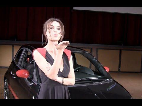 Fiat 500 ABARTH Venom modded by Magnetti Marelli as introduced by Romanian supermodel Catrinel Menghia