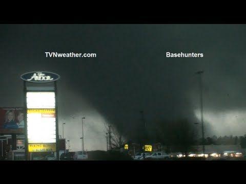 Footage of a tornado.