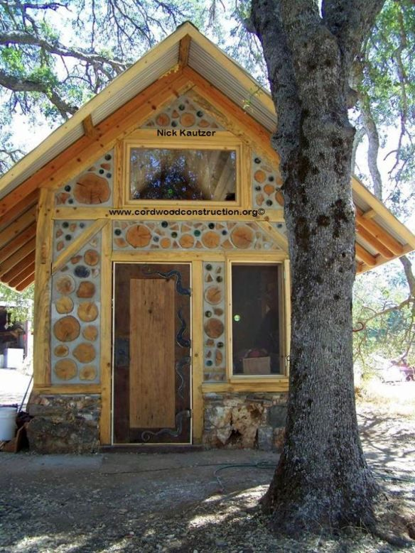 180 best images about cordwood building on pinterest glass bottles cordwood homes and the roof - Building river stone walls with mortar sobriety and elegance ...