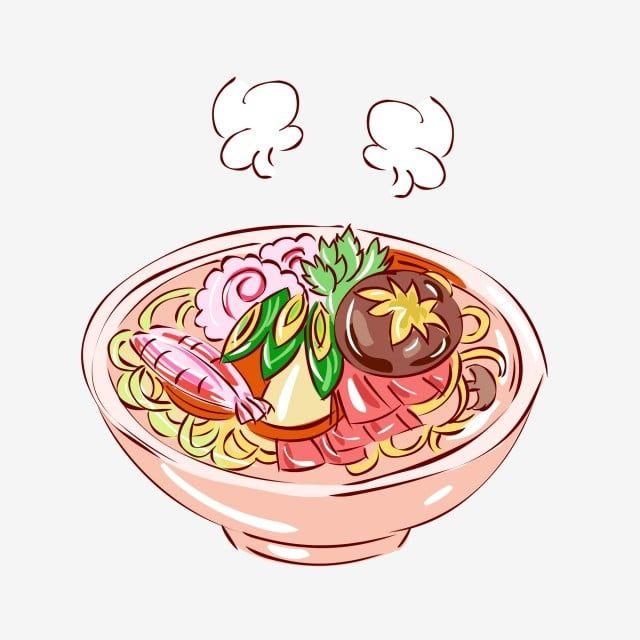 Gambar Gambar Kartun Musim Sejuk Yang Dilukis Dengan Tangan Makanan Udara Panas Mengukus Png Dan Vektor Untuk Muat Turun Percuma Kartun Gambar Kartun Gambar