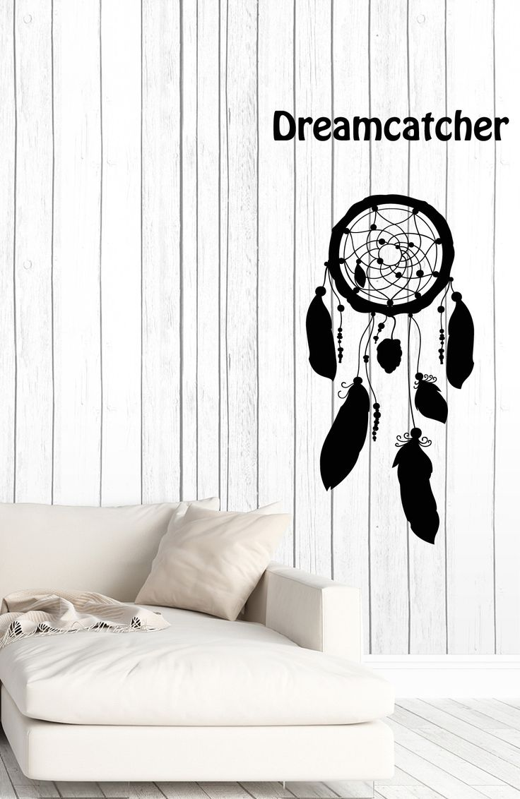 Wall Vinyl Decal Dreamcatcher Feather Symbol Amulet Home Interior Decor z4633