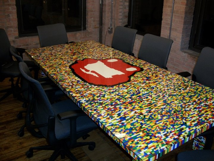 Custom Built For Us To Use And Maybe You Ll Be Interviewed Here One Day Lego Tablecustom