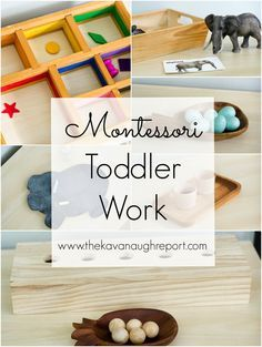 Toddler Work -- Toddlers in a Homeschool Classroom. Some tips on keeping toddlers busy while sharing a preschool space.
