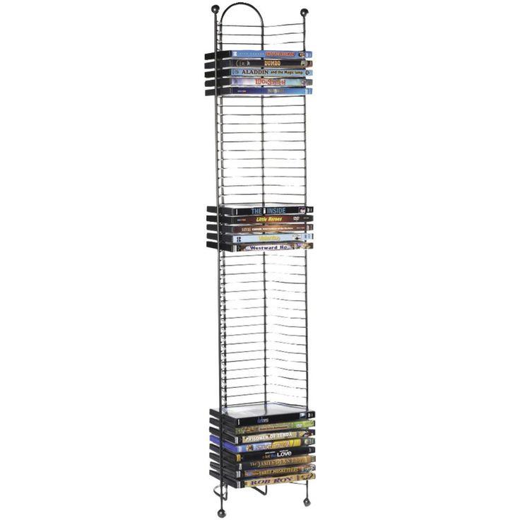 Media Storage Rack DVD CD Games Organizer Shelf Tower Multimedia Holder Stand #Atlantic #Contemporary