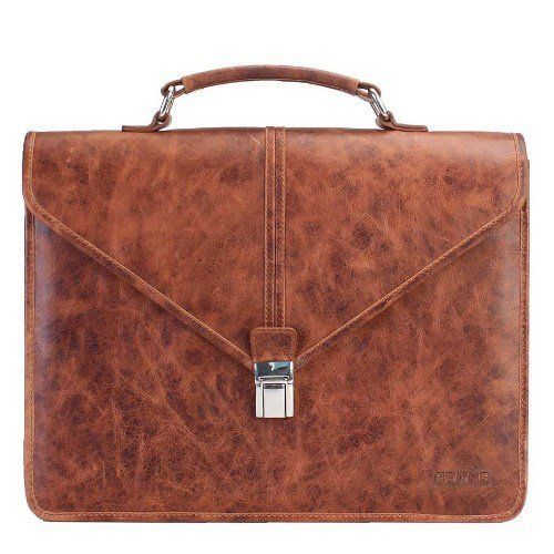 #Brune #Tan #Laptop #Bag