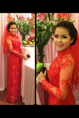 Vietnamese Traditional Wedding AO Dai Ren Luoi Theu | eBay