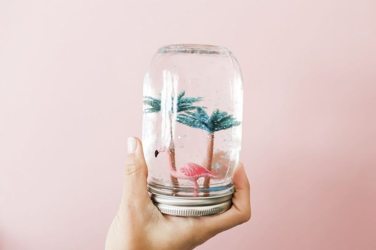 Read on to see how you can make your very own Summer Snow Globe, complete with Mini Flamingos