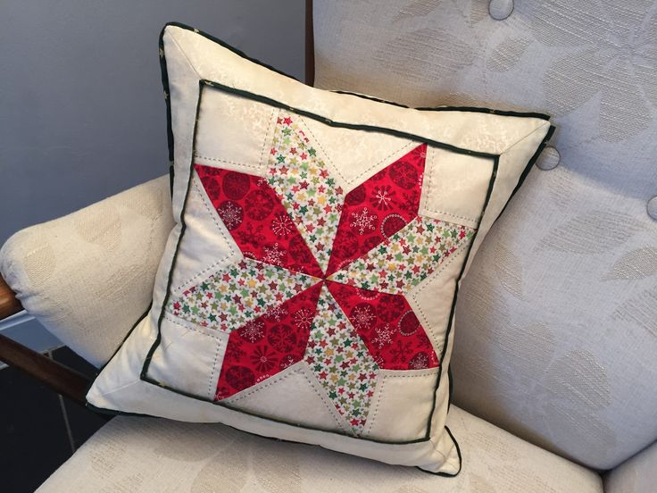 Mum made two of these lovely cushions for our Christmas living room.