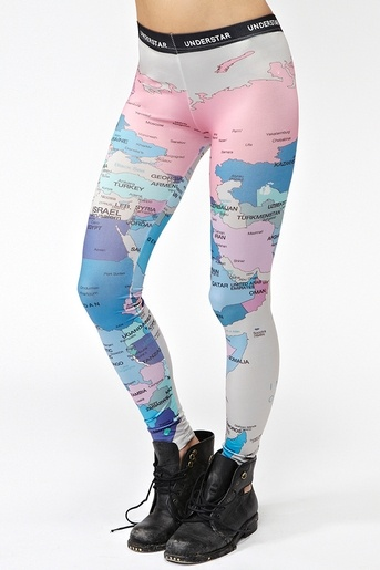 these map leggings are too cute!!