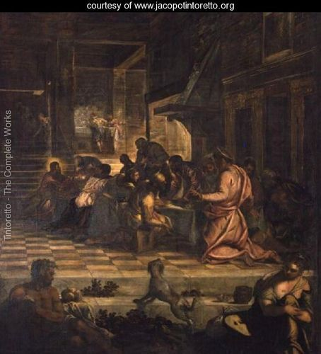 the last supper by tintoretto analysis Analysis of the crucifixion by tintoretto tintoretto's greatest work is the huge and complex series of fifty canvases painted between 1565 and 1587 for the meeting .