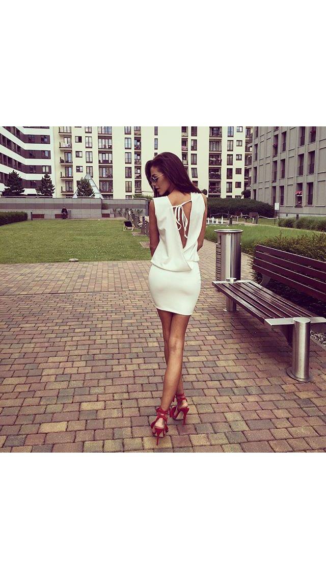 Sukienka THE ONE www.poqash.pl #dress #white #POQASH