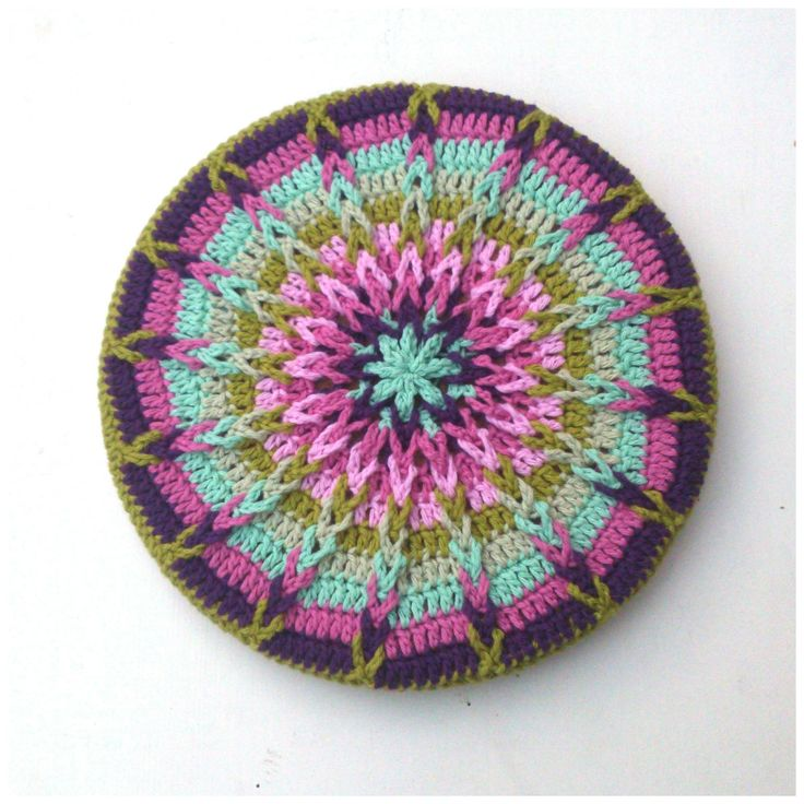 Tutorial Crochet Mandala Pot Coaster www.facebook.com/pages/Attys/285033854868633