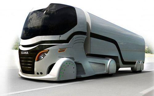 Scania Truck Concept, Adam Palethorpe, Futurism, Future Transport