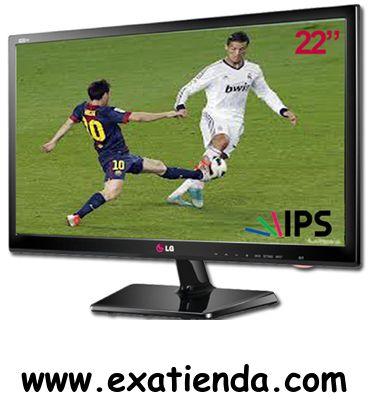"""Ya disponible Televisor LG led 22"""" 22ma33d pz    (por sólo 193.95 € IVA incluído):   -Color:Negro -Brillo/Luminosidad:250 (cd/m2) -Contraste:5.000.000:1 -Tamaño pantalla:LED 21.6"""" (16:9)IPS -Resolución:1366 x 768 - SmartTV:NO -Tiempo de respuesta:9 ms -Sintonizador: HD MPEG4 (H.264) -Conexiones: Ranura CI:SI Euroconector:SI Entrada Audio PC:Sí Dsub15 Antena:RF Terrestre/Cable Entrada AV:SI Componentes:SI HDMI:1 USB:SI -Altavoces:5W + 5W -Soporte VESA:100 x 100 -Frecuen"""
