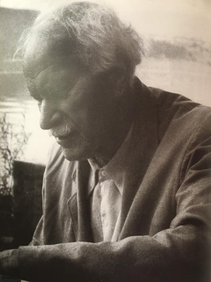 Carl Jung at Lake Zurich, Bollingen, 1950