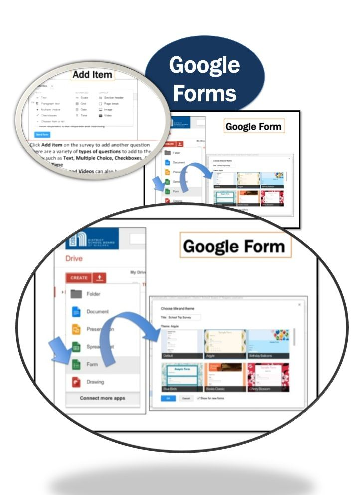 •Google Drive is the new home for Google Docs •Create and share your work online and access your documents from anywhere •Google Forms is a useful tool to help you plan events, send a survey or give students a quiz.