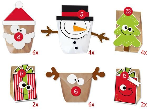 diy advent calendar mix for filling easy to tinker without scissors and glue basteln mit