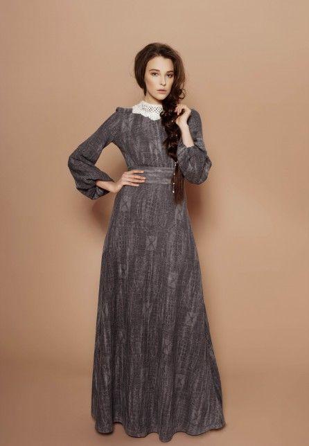 Платья из оренбургских платков |