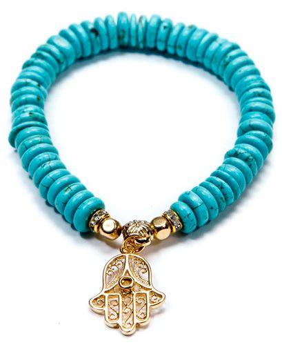 Hamsa Evil Eye Turquoise Bracelet