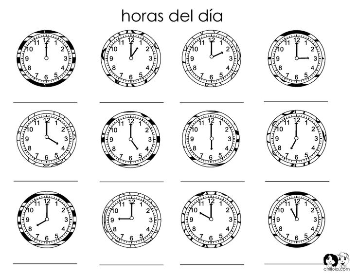 Worksheets Spanish Time Worksheet 17 best images about elementary spanish time on pinterest in printout worksheet