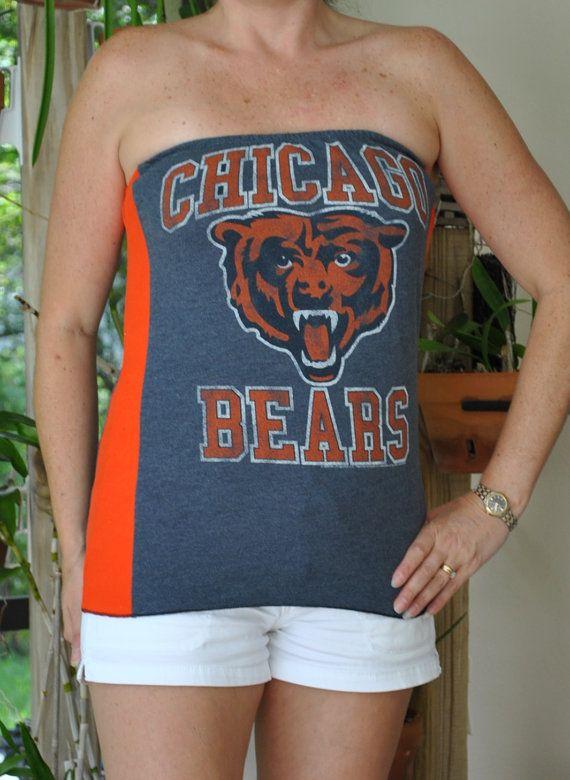 Chicago+Bears+NFL+football+gray+orange+sports+by+twochixremix,+$24.99