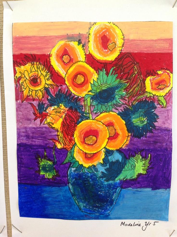 Van Gogh sunflowers year 5