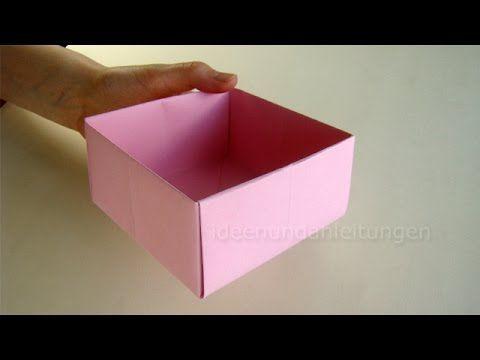 Schachtel falten - Kisten Basteln mit Papier - Geschenkbox selber machen - YouTube