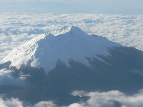 La Sierra Nevada in Santa Marta...saw this on the plane this morning!  Sooooo beautiful!