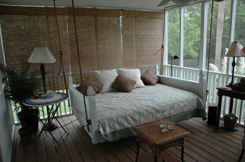 """Emerson Full Size Bed Swing from """"Vintage Porch Swings"""" - Charleston SC - traditional - porch - charleston - Vintage Porch Swings LLC"""
