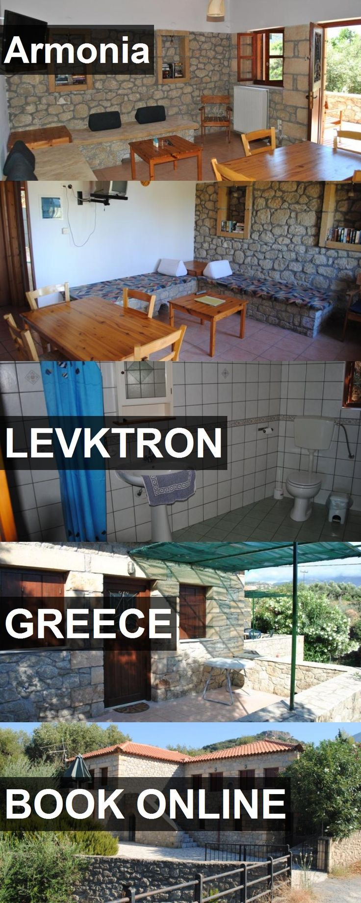Hotel Armonia in Levktron, Greece. For more information, photos, reviews and best prices please follow the link. #Greece #Levktron #travel #vacation #hotel