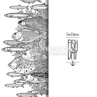Vector Art : Graphic ocean fish design