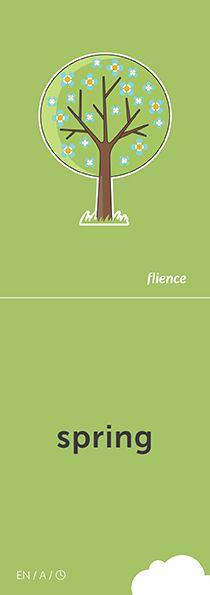 Spring #CardFly #flience #time #english #education #flashcard #language