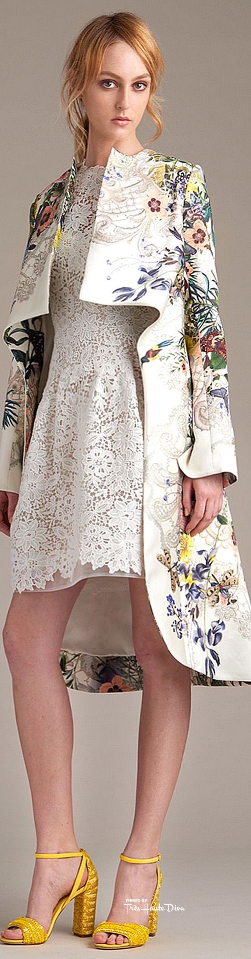 The coat jacket..the print...niceeee          Monique Lhuillier Resort 2016 ♔ Très Haute Diva ♔ http://www.style.com/fashion-shows/resort-2016