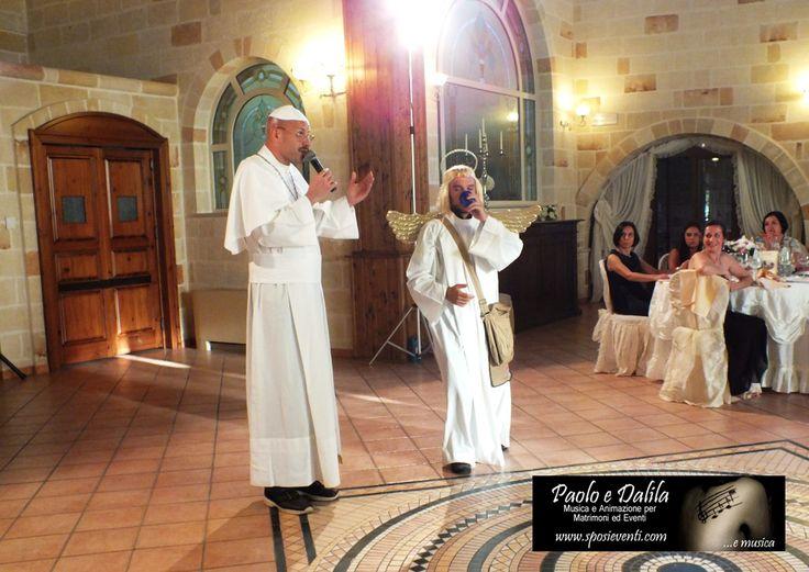 Spettacoli per matrimonio durante il ricevimento di nozze Paolo e Dalila Live musica e animazione per matrimonio in Provincia di lecce, Bari, Brindisi, Foggia, Taranto, Cosenza, Potenza e Matera.