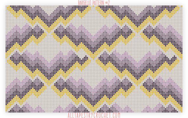 Bargello Pattern #2 - Free Tapestry Crochet Pattern from AllTapestryCrochet.com