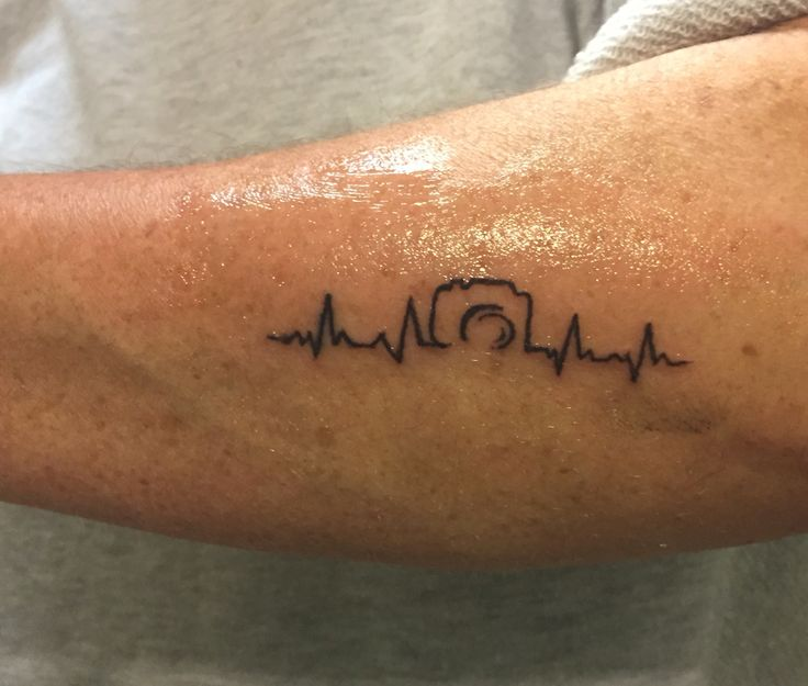 Camera tattoo with heartbeat