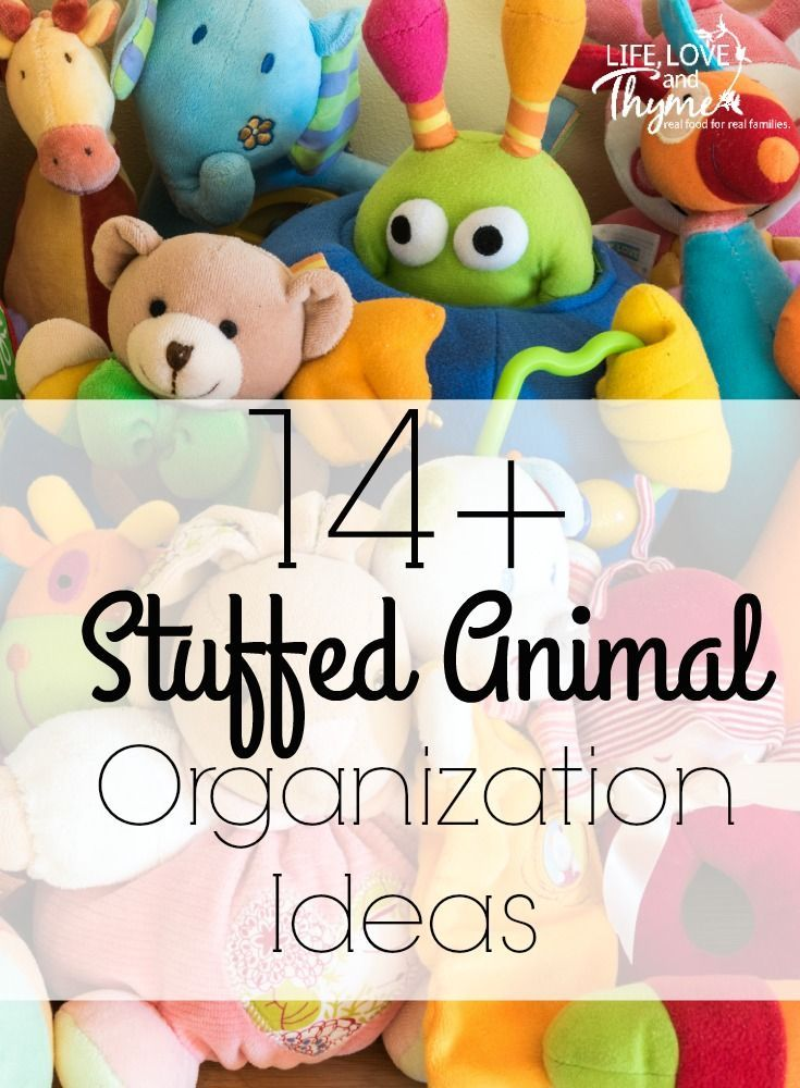 14+ Stuffed Animal Organization Ideas - Stuffed animals can take over the house if you don't have a way to contain them. Try one of these ideas to help keep the peace.