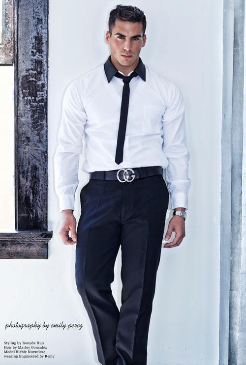 71921470efc01 Richie Nuzzolese... love that Gucci belt! | Sharp-dressed man | The office  shirts, Men dress, Gucci online