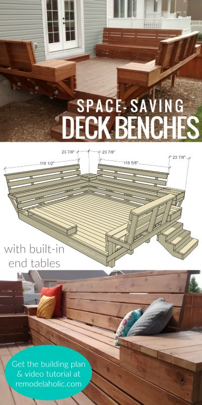 How to Build Space-Saving Deck Benches for a Small Deck – Roger Hicks